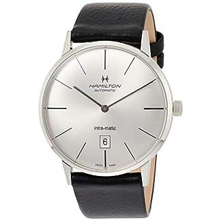 Hamilton-Herren-Analog-Automatik-Uhr-mit-Leder-Armband-H38755751