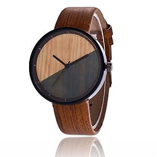 Sepbear-Damenuhr-Analog-Quarz-Armbanduhr-Kontrastfarbe-Zifferblatt-Elegant-Mode-mit-Leder-Armband