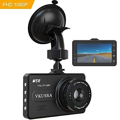 VKUSRA-Dashcam-Full-HD-1080P-Autokamera-mit-170-Weitwinkelobjektiv-3-Zoll-LCD-Bildschirm-WDR-Bewegungserkennung-Loop-Aufnahme-Nachtsicht-Parkmonitor-und-G-Sensor