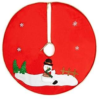 QILICZ-Weihnachtsbaum-Rock-Christbaumstnder-Decke-Baum-Rock-Geschenkdecke-Dekoration-Weihnachtsbaum-Decke-Weihnachtsbaumdecke-Christmas-Tannenbaum-Dekorationen