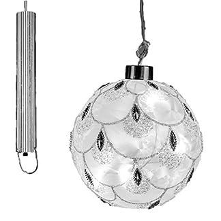Formano-LED-Deko-Hnger-Kugel-Eiszeit-wei-Silber-mit-Timer-Glas-10-cm-Christbaumschmuck-Weihnachtsbaumschmuck-Weihnachtsdekoration-Geschenkidee-Weihnachtsbaumkugel-Christbaumkugel-1-Stck