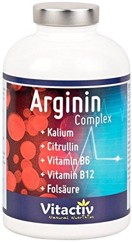Arginin Complex – Blutdrucksenker – L-Arginin & Ginseng & Citrullin & B-Vitamine – Für ein gesundes Herz (180 Kapseln)