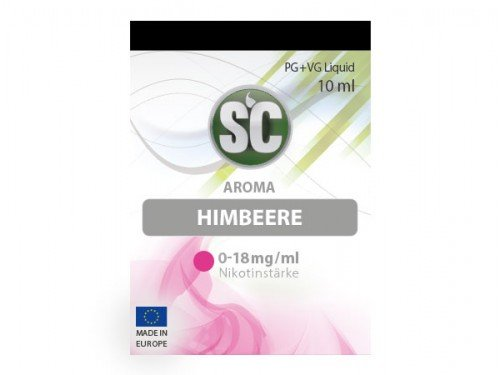 SC Himbeere E-Zigaretten Liquid, 10 ml