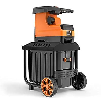 Gartenhcksler-Holzhcksler-Motorhcksler-Schredder-2800W-45mm-Astdicke-60L-robuste-Auffangbox-PWS01A