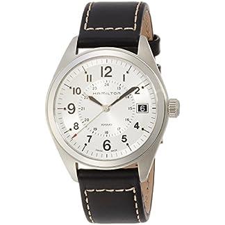 Hamilton-Herren-Analog-Quarz-Uhr-mit-Leder-Armband-H68551753