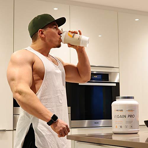 VEGAIN PRO | Weight & Mass Gainer | 100% Vegan | Für Masseaufbau oder bei Untergewicht | Sehr lecker | Ohne Maltodextrin und zugesetzten Zucker | Made in Germany | 2,2 kg – (CHOCOLATE HAZELNUT)