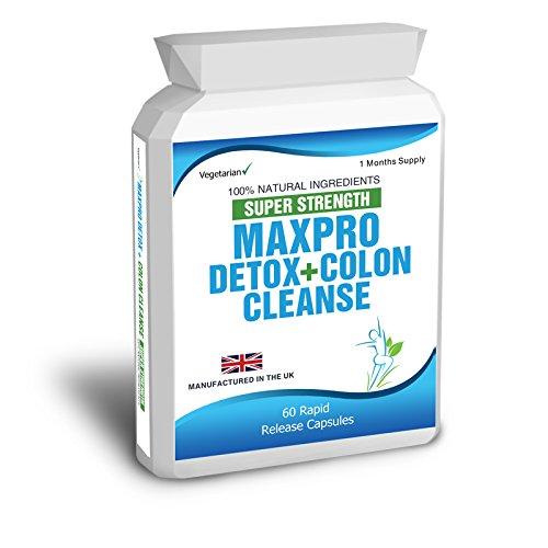 Body Smart Herbals – 60 Max Cleanse Pro Colon Cleanse Detox – zur Reinigung des Darms vor einer Diät