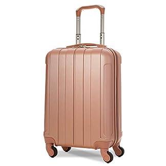 EONO-Essentials-Leichter-55cm-ABS-Hartschalenkoffer-Reisetrolley-Carry-on-Handgepck-Koffer-mit-4-Rdern