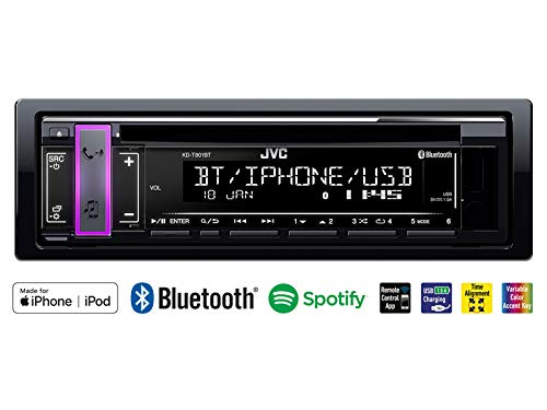 JVC-KD-T801BT-1-DIN-Autoradio-mit-Bluetooth-CD-MP3-fr-Mini-OneCooper-R50-2001-2002-schwarz