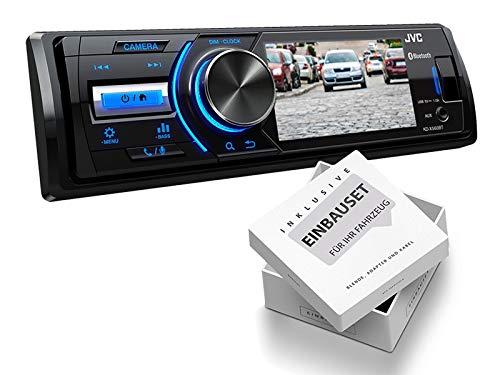 JVC-KDX560BT-1-DIN-Media-Receiver-Farbdisplay-fr-Rckfahrkamera-fr-Jeep-Grand-Cherokee-WJ-2002-2004-schwarz