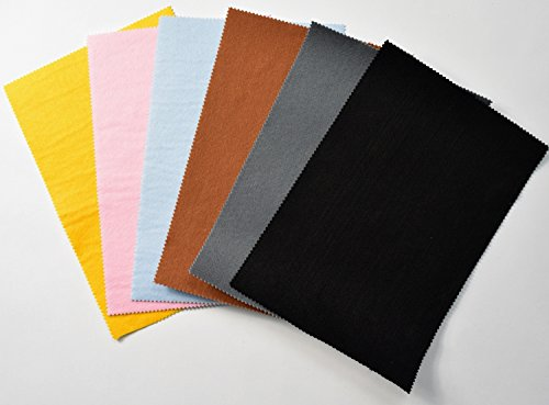 StoffBook FILZPLATTE ca. 20x30cm BASTELFILZ FILZSTOFF SELBSTKLEBEND STOFF STOFFE, D296 (Schwarz)