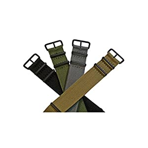 Nylon-Uhrenarmband-Schwarze-Dornschliee-16-24mm-Textil-Armband-Watch-Strap-Band