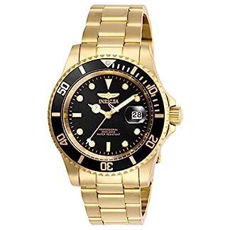Invicta-Pro-Diver-Herren-Armbanduhr-40mm-Armband-Edelstahl-Gold-Quarz-26975