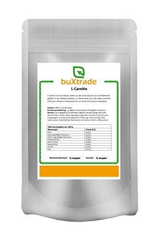 2 x 500 g L-Carnitin Base 100% reines Pulver Aminosäure Energie Stoffwechsel 1kg