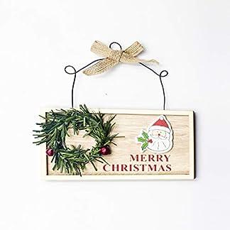 Weihnachtsmann-Neujahr-Naturholz-Weihnachten-Tr-Baumschmuck-Kiefer-Kranz-Behnge-Geschenke-Weihnachtsdekoration-Home-Party-Dekorationen-B-Girlande-Alter-Mann