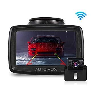 AUTO-VOX-W2-Kabellos-Digital-Rckfahrkamera-Set-mit-eingebautem-Funksender-Wireless-EinparkhilfeWasserdicht-IP68-Backup-AutoKamera-43-Zoll-LCD-Monitor-Nachtsicht-fr-SUVBusKfZAnhnger-Pickup