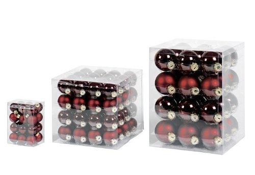16x-GLAS-CHRISTBAUMKUGELN-8cm-BORDEAUX-ROT-GLANZ-MATT-WEIHNACHTSKUGELN-KUGEL-BOX