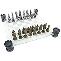 Nemesis-Now-Medieval-Knight-Chess-Set-Schachspiel