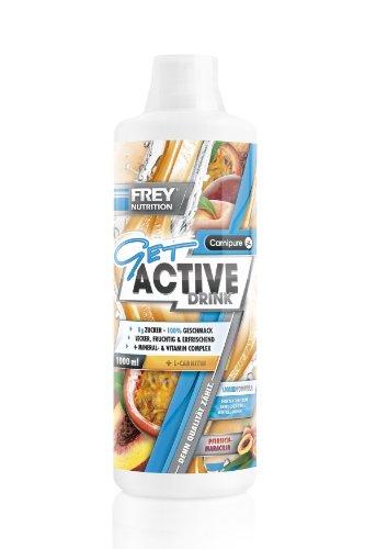 Frey Nutrition Get Active Drink – Pfirsich-Maracuja, 1er Pack (1 x 1 kg)
