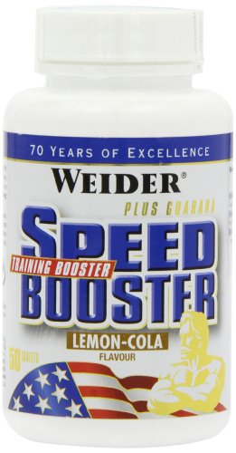 Weider, Speed Booster, Lemon-Cola, 1er Pack (1x 50 Tabletten)
