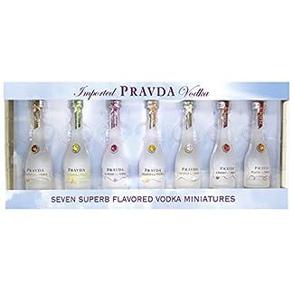 Pravda-Vodka-Flavored-Miniaturen-Geschenkset-7x-005l-Hochwertiger-5-fach-destillierter-Super-Premium-Flavored-Vodka-aus-Polen-im-Set-mit-7-verschiedenen-flavored-Miniaturen–005l