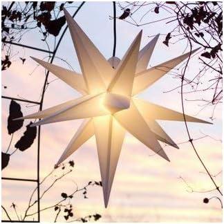 Mit-LED-Auenstern-Stern-Outdoor-weiss-beleuchteter-Stern-55-60-cm-Weihnachtsstern-Leuchtstern-Faltstern-mit-Leuchtmittel-LED-StaRt-NDL-DUH-E14-C35W-104-Dioden