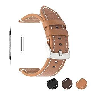Uhrenarmband-aus-Echtleder-von-Berfine-extra-weiches-Echtleder-Ersatzarmband-fr-Damen-und-Herrenuhren-schwarz-braun-18-mm-20-mm-22-mm