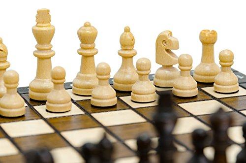 AKADEMISCHES-27cm-11in-kleines-reisendes-hlzernes-Schach-Set-handcrafted-klassisches-Schach-Spiel