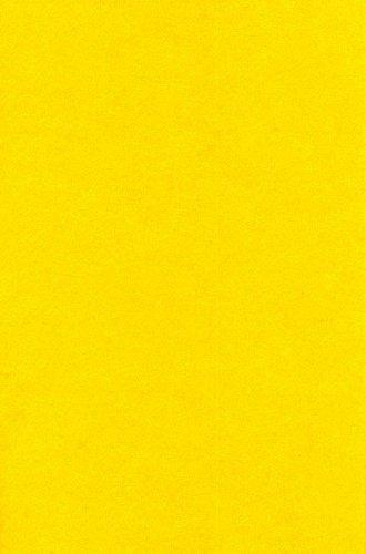 1 Bogen Bastel-Filz 20 x 30 cm – Stärke: 2mm – Farbe nach Wahl (Gelb)