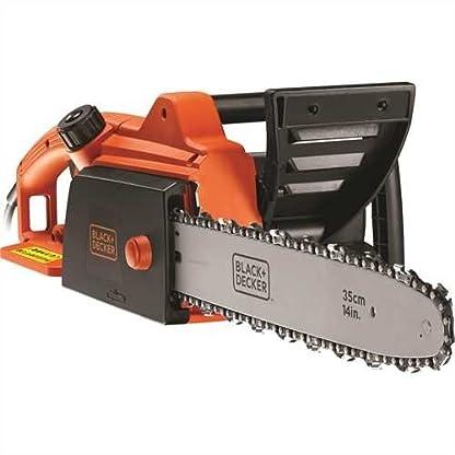 BlackDecker-Elektro-Kettensge-CS1835-Motorsge-1800W-35-cm-Schwertlnge-125ms-Kettengeschwindigkeit-rckschlagarm-Kettenbremse-schwarz-orange