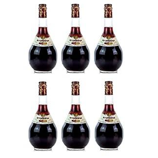6x-Ampelicious-Rot-trocken-je-500ml-11-griechischer-Wein-in-kleinen-Flaschen-Rotwein-dry-Probiersachet-10ml-Olivenl