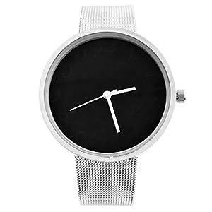MJartoria-Damen-Herren-Vintage-Armbanduhr-Quarz-Uhr-Modeschmuck-Milanaiseband-Mode-Design-mit-Strass-Silber-Farbe