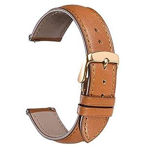 CHIMAERA-Echtes-Leder-Uhrenarmband-Smart-Watch-Armband-Schnellverschluss-Ersatzband-fr-Herren-Damen-mit-Edelstahl-Metall-Schliee-16mm-18mm19mm-20mm-21mm22mm-24mm