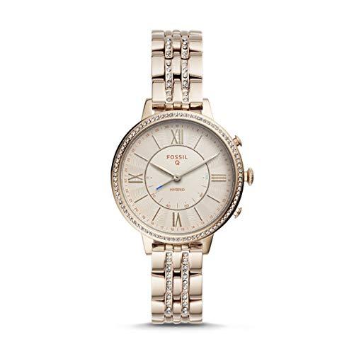 Fossil-Jacqueline-Hybrid-Smartwatch-Pastellrosa-Edelstahl-Damenuhr-FTW5036