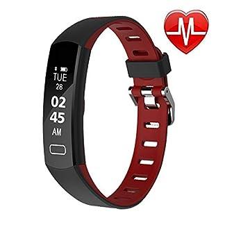 LIGE-Fitness-Tracker-Activity-Tracker-Schwarz-Uhr-mit-Pulsmesser-Wasserdichtes-Smart-Armband-mit-Schrittzhler-Kalorienzhler-Schrittzhler-Uhr-fr-Kinder-Frauen-und-Mnner