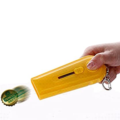 Szjsl-Flaschenffner-Cap-Launcher-Bierffner-Shooter-durch-Spinning-Hat-Fire-Cap-schieen-ber-5-Meter-Farbe-zufllig