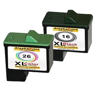 Premium-2er-Set-Kompatible-Druckerpatronen-Als-Ersatz-fr-Lexmark-16-XL-26-XL