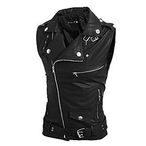 Zolimx-Herren-Herbst-Winter-Leder-Zipper-Button-Jacke-Weste-Bluse-Weste-Top
