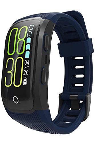 GPS-Armbanduhr-Fitness-Tracker-Farbbildschirm-IP68-Wasserdicht-Schwimmen-Outdoor-Aktivittstracker-Herzfrequenz-6-Sportarten-Deutsche-Bediennungsanleitung
