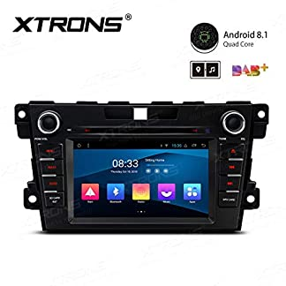 XTRONS-7-Android-Autoradio-mit-Touchscreen-Android-81-Quad-Core-DVD-Player-Autostereo-WiFi-4G-Voll-RCA-Ausgang-Bluetooth50-Auto-Musik-Streaming-16GB-ROM-DAB-OBD2-TPMS-FR-Mazda-CX-7