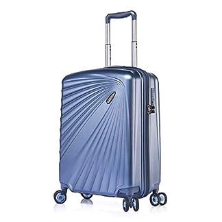 Verage-Leichter-Hartschalen-Koffer-Handgepck-TSA-integriert-Prchen-von-Kinetic-4-Rollen-ABSPC-Trolley-Schwarz-Blau-Burgund-mit-Sicherheits-Reiverschluss