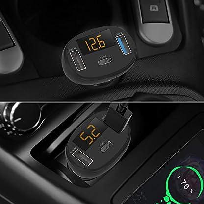 aceyoon-QC-30-Ladegert-mit-LED-Spannunganzeige-3-Port-QC30-USB-Typ-C-Quick-Charge-8W-12V24V-3A-Mini-Auto-Ladeadapter-USB-Zigarettenanznder-Aufladen-fr-Smartphone-Tablet-GPS-Dashcam-MEHRWEG