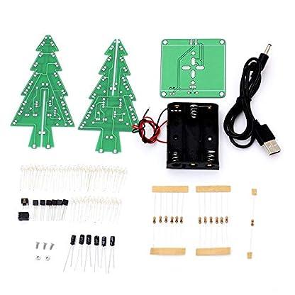 Erduo-LED-Flash-Schaltungsteile-Weihnachtsbaum-3D-Baum-LED-Bausatz-Umweltfreundliche-Materialien-Multi-Color-Gemischt