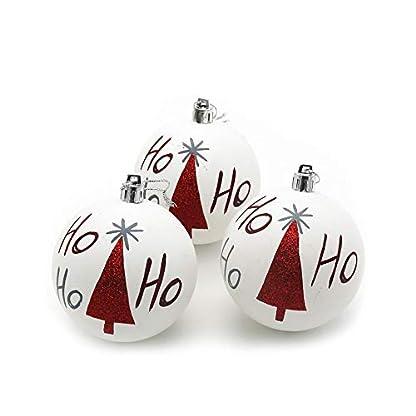 FeiliandaJJ-3PCS-6CM-Weihnachtskugel-Wei-Weihnachtsbaum-Graffiti-Kugel-Weihnachten-Deko-Anhnger-Christbaumkugeln-fr-Weihnachtsbaum-Party-Home-Hochzeit