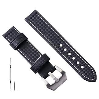 20mm-22mm-24mm-26mm-Uhrenarmband-Leder-Schwarz-Uhrenarmband-Leder-Herren-Ersatz-Kohlefaser-Fr-Mnner-Echter-Kompatibel-mit-Panerai-Armband