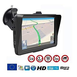 PKW-und-LKW-Navigationsgert-7-Zoll-GPS-Europa-Karten-2019-Kostenlose-Karten-Aktualisierung
