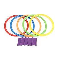 Zerodis-5Pcs-Hopscotch-Jumping-Ring-Sport-Spiele-Outdoor-Trainingsspiel-Pdagogisches-Lernspielzeug-Geschenk-fr-Kinder