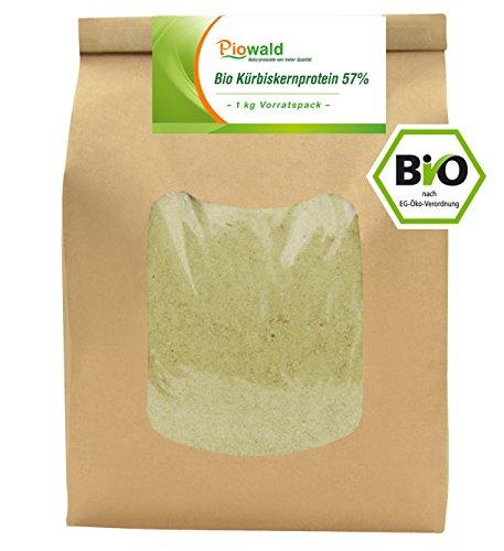 BIO Kürbiskernprotein 57% – 1 kg Vorratspack