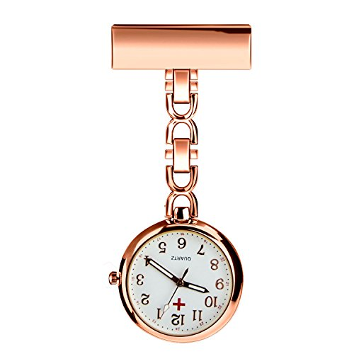 BestFire-Krankenschwester-Revers-Pin-Uhr-Clip-on-Hanging-Medical-Taschen-Uhr-Mann-Frauen-Quarz-hngenden-Doktor-Taschenuhr-Krankenschwestern-Uhr-mit-Geschenk-Box