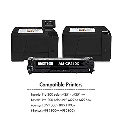 Amstech-4Pack-Kompatibel-fr-CF210X-131X-CF210A-CF211A-CF212A-CF213A-131A-Toner-Canon-Cartridge-731-fr-HP-Laserjet-Pro-200-Color-MFP-M276n-M276nw-M251n-M251nw-M276-M251-Schwarz-Gelb-Yellow-Magenta